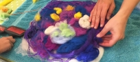 Flash Art Workshops for Kids: Wet Felting Pictures