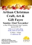 Artisan Christmas Craft, Art & Gift Fayre