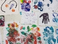 Printmaking using unusual and natural objects: Workshop for children