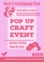 May pop up craft event