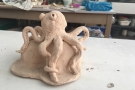 Children's Holiday Online Class: Pottery Octopus  (Ages 7+)